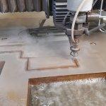 Waterstraal snijden 40mm dik